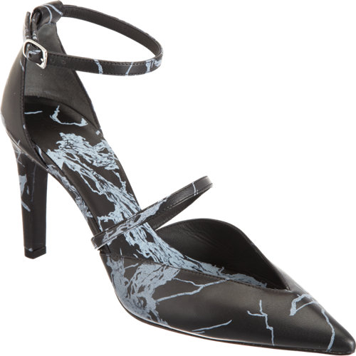 Balenciaga Imprime Marble-Effect Ankle Strap Pump at Barneys.com