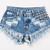 450 Acid Studded Babe Shorts | RUNWAYDREAMZ