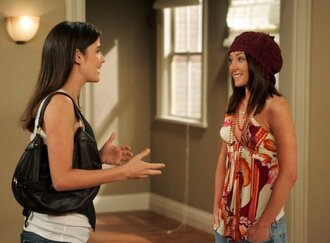 shirt blouse how i met your mother orange and purple hat
