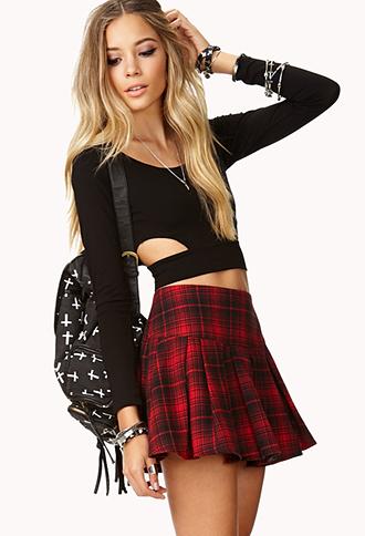 Edgy Plaid Skirt | FOREVER21 - 2000109995