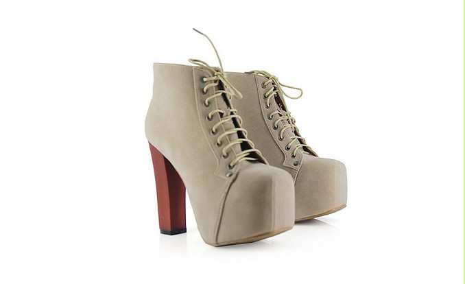 Fashion Women Lita Platforms High Heels Lace Up Boot Round Toe Ankle Shoes 4 5 8 | eBay