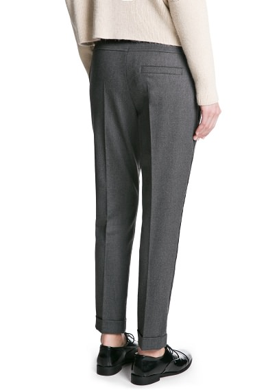 MANGO - CLOTHING - Coats - PREMIUM - Merino wool-blend trousers