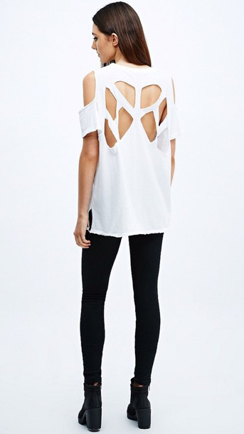 top asos white top cut-out top asos tops