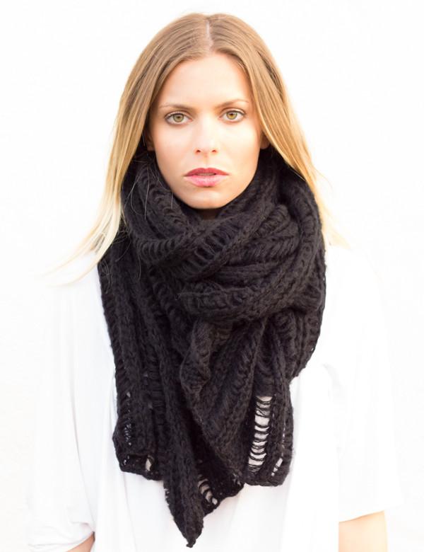 scarf scarves knit knitwear long wool