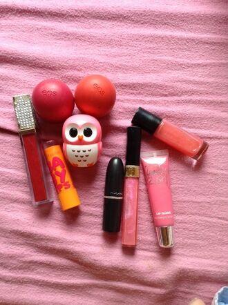 eos lip balm maybelline babylips baby lips red black mac cosmetics owl pink cute cosmetics mac lipstick rose polyvore jewels