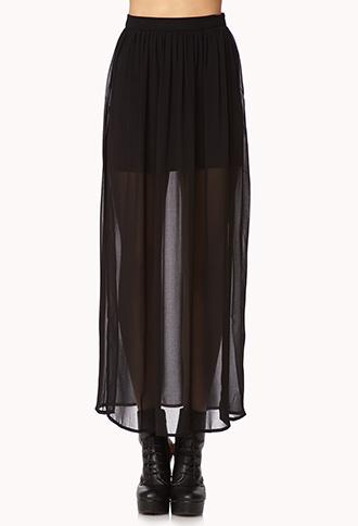 Slit Chiffon Maxi-Skirt | FOREVER21 - 2023105564