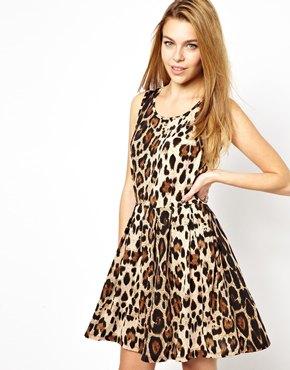 Brave Soul | Brave Soul Leopard Print Skater Dress at ASOS