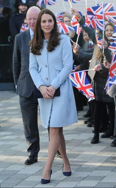 kate middleton blue coat light blue coat