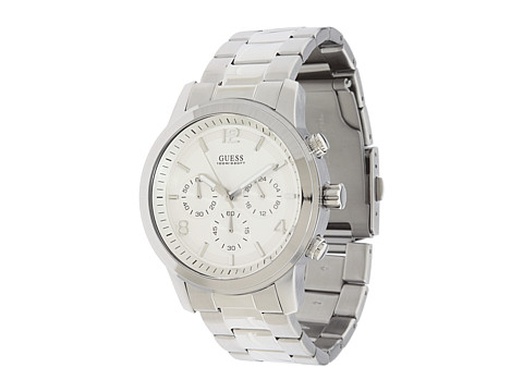 GUESS U13577G1 Bold Contemporary Chronograph Watch Silver/Silver Dial - Zappos.com Free Shipping BOTH Ways