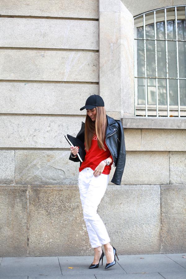 b a r t a b a c sweater jacket jeans shoes bag jewels