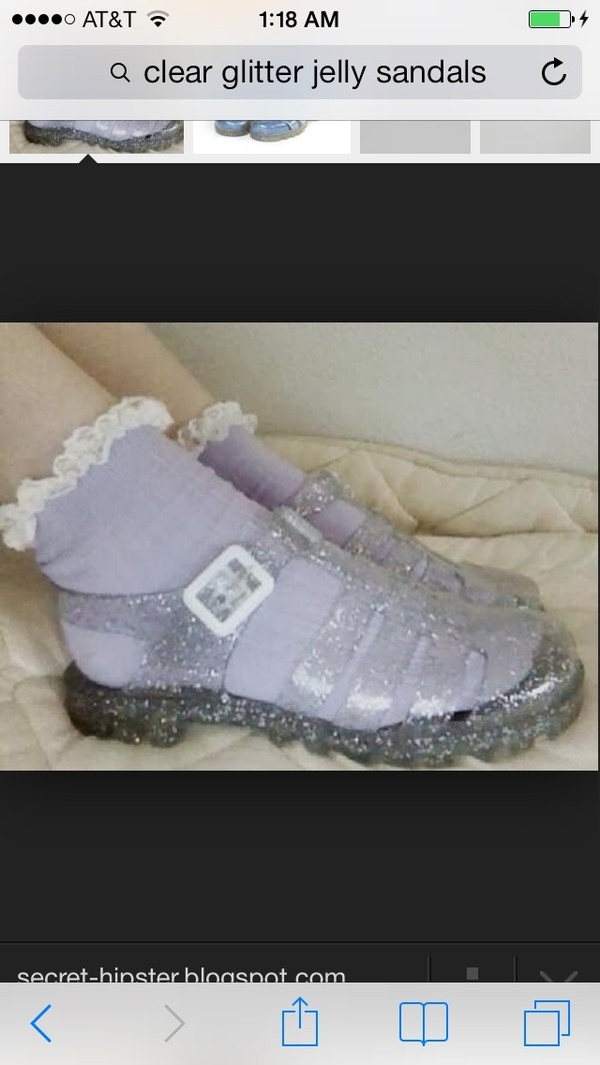 shoes cheap? glitter shoes jellies