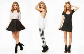 shoes basics black and white black white dress drmartens tank top racerback sneakers stylish circle skirt scuba skirt skirt blouse