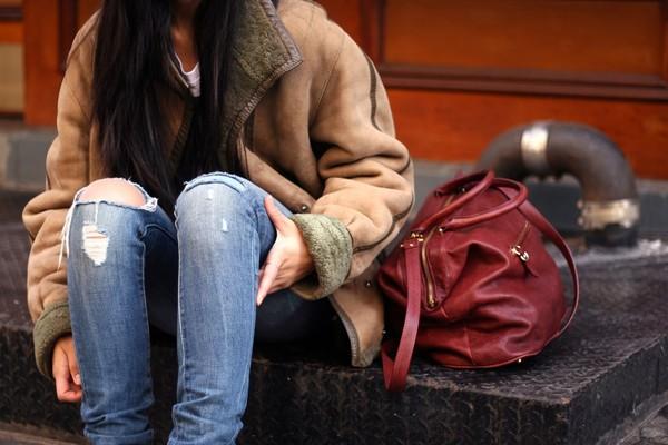 kristenglam tank top jacket jeans bag jewels