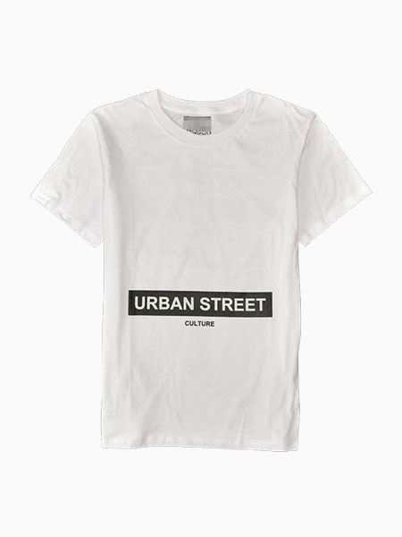 New Look White Jersey Tee With URBAN STREET Pattern Women or Men | Choies
