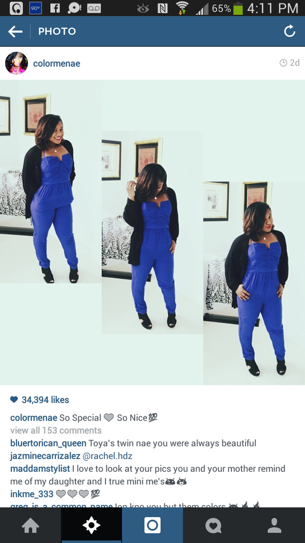 blouse blue reginae carter