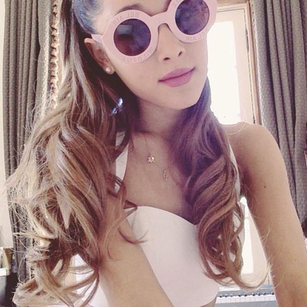 sunglasses pink sunglasses ariana grande arianagrandesunglasses dress pink pink sunglasses pink dress
