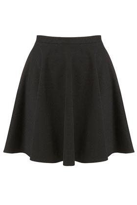 Black Milano Skater Skirt - Topshop