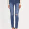 Daily highlight distressed skinny jeans blue dkblue - gojane.com