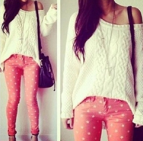 jeans sweater stars