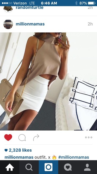 top glamour women turtle neck crop women turtle turtleneck crop crop tops sexy sleeveless bag phone hair dress blouse small little sexy top gorgeous girl girly fashion style stylish street cloth clothes beige daily design charming fashion week cropped streetwear streetstyle white blouse