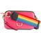 Marc jacobs rainbow strap shoulder bag, women's, pink/purple, leather