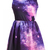 Multi Mini Dress - Purple Pink Galaxy Pattern Dress | UsTrendy