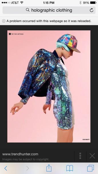 jacket holographic hat