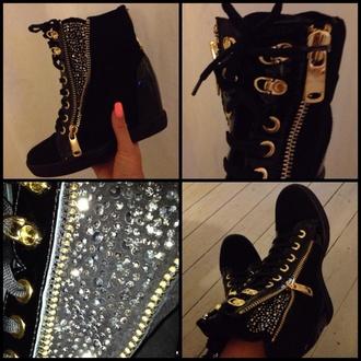 shoes black turkey webshop diamonds gold high heels ancle boots glitter glamorous shoes fantastic cool shoes