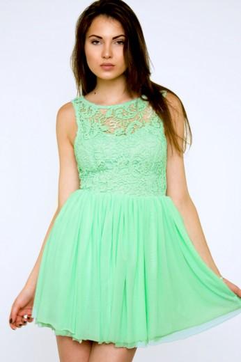 Green Crochet Dress- $79