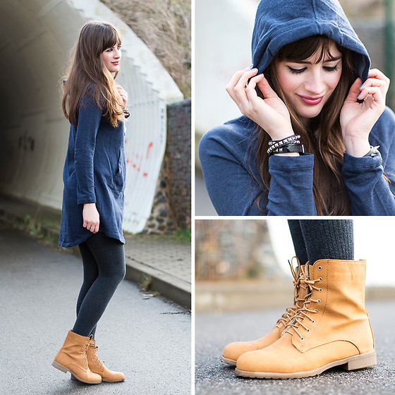 H&M Sweater, Osco Schuhe Boots - The sun is gone, but I have the light - Andrea Funk | LOOKBOOK