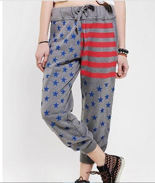 pants american flag sweatpants america flag