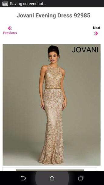 dress jovani lace dress