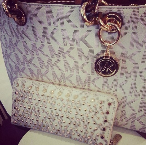 bag michael kors wallet studded