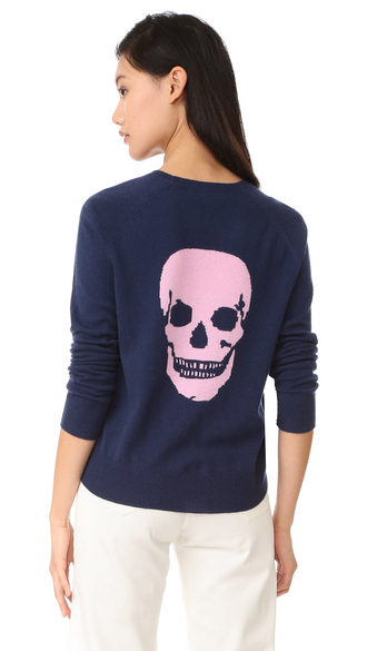 sweater fashion clothes 360 sweater amber skull cashmere jumper