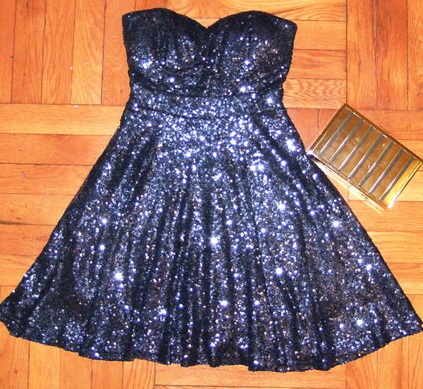 dress icifashion ici fashion sequin dress sequin prom dress new year's eve new year's eve blue sequin dress