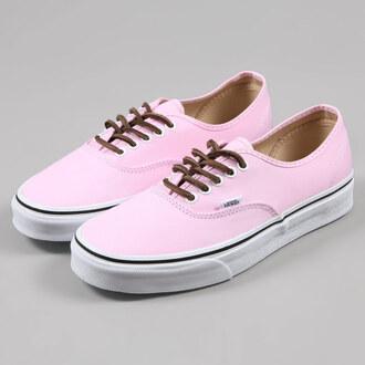 shoes vans vans of the wall pink soft pink authentics california surf skater shoes skater pink vans