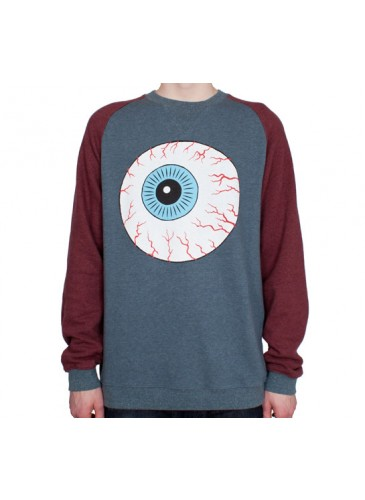Mishka Throwback Keep Watch Crew Neck Sweatshirt (Harbour Blue) - Consortium.