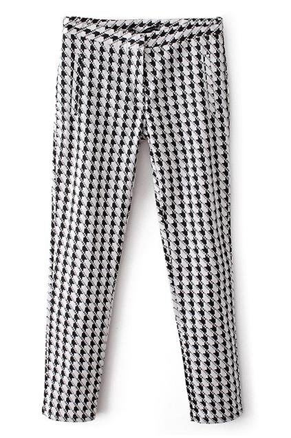 ROMWE | Houndstooth Print Skinny Pants, The Latest Street Fashion