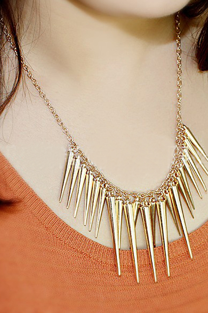 ROMWE | Spikes Pendant Necklace, The Latest Street Fashion