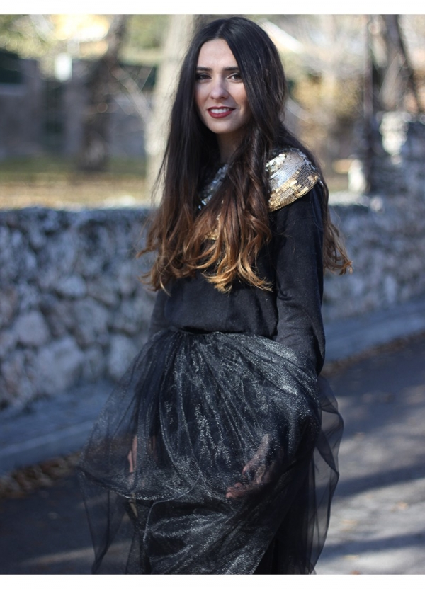 Falda tul negra by OHKKO | BUYLEVARD