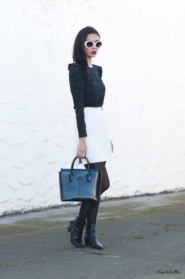 say hello max shirt skirt shoes bag
