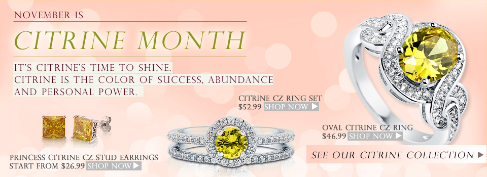 Fashion Jewelry, Sterling Silver Jewelry, Cubic Zirconia Rings, Earrings, Necklace