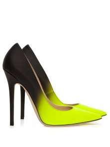 Anouk neon yellow and black degradé shoes - Jimmy Choo from Cricket Fashion Boutique UK
