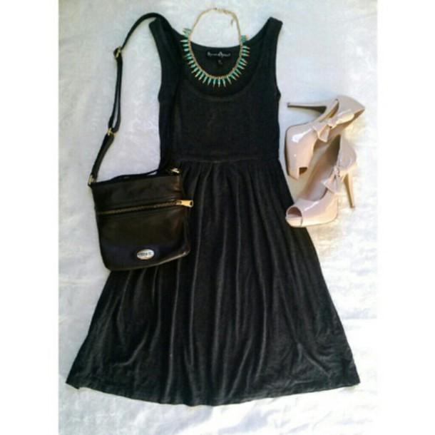 dress charcoal black dress cute dress skater dress party dress cool dress short dress long dress shoes bow dress little black dress
