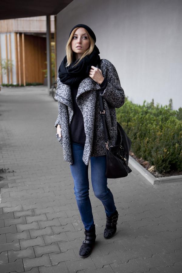 fashion mugging coat hat pants shoes bag