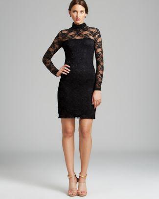 Karen Kane Lace Turtleneck Dress | Bloomingdale's