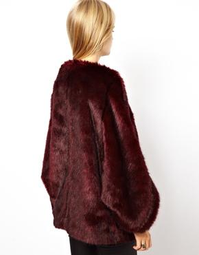 ASOS | ASOS Faux Fur Batwing Coat at ASOS