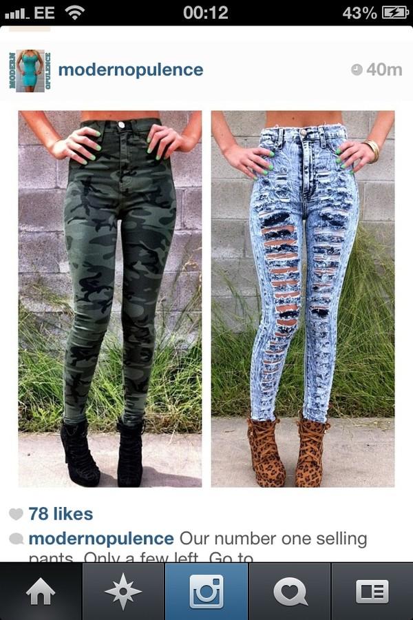 pants camouflage army green camo pants high waisted pants green