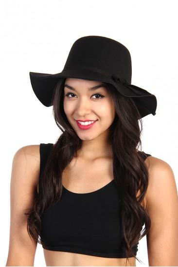LoveMelrose.com From Harry & Molly | Crown Akubra Hat - Black