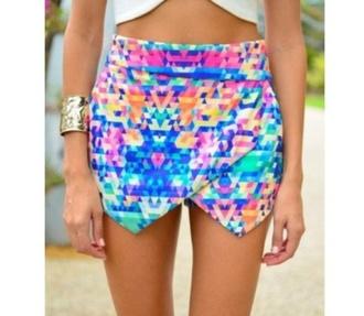 skirt skorts shorts pixelated tetris multicolor bright inlove illuminous